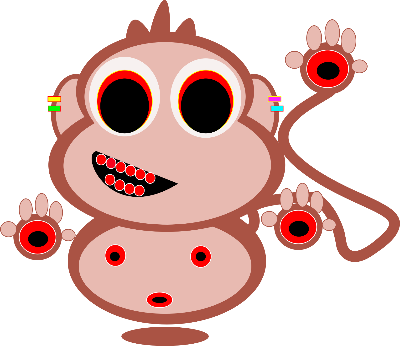svg free Monkey red free on. Ape clipart mokey