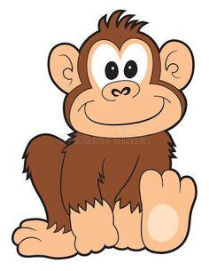 svg free Cute cartoon monkeys clip. Ape clipart mongkey