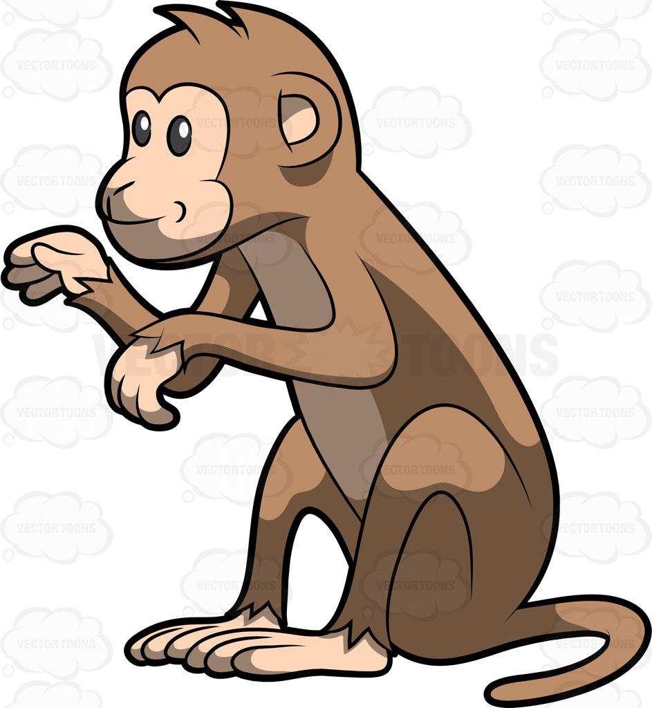 vector freeuse download Ape clipart mongkey. Monkey at getdrawings com