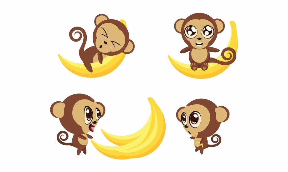 graphic black and white download Ape clipart monke. Bananas monkeys transprent monkey