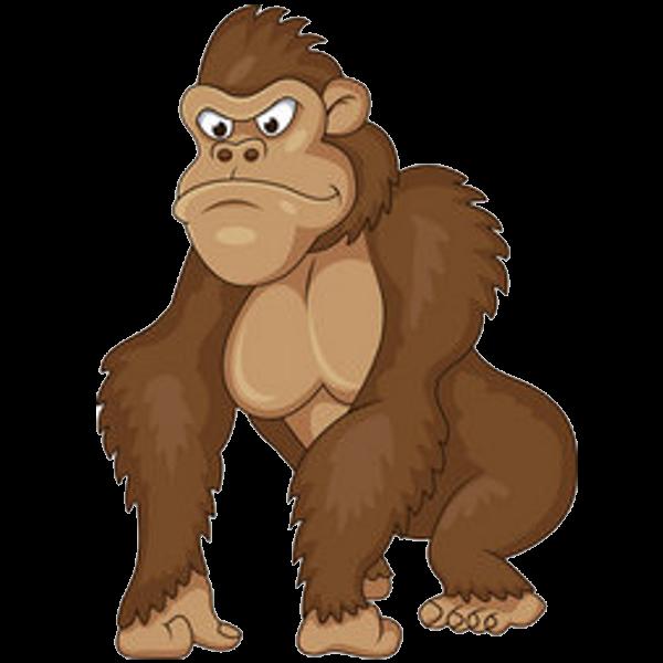 banner free download Ape clipart monke. Brown gorilla gorillas monkey