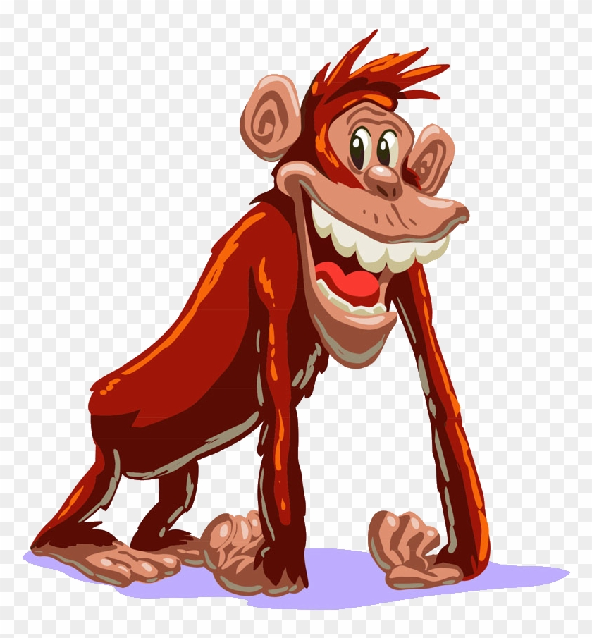 clip royalty free library Primate monkey cartoon free. Ape clipart monke.