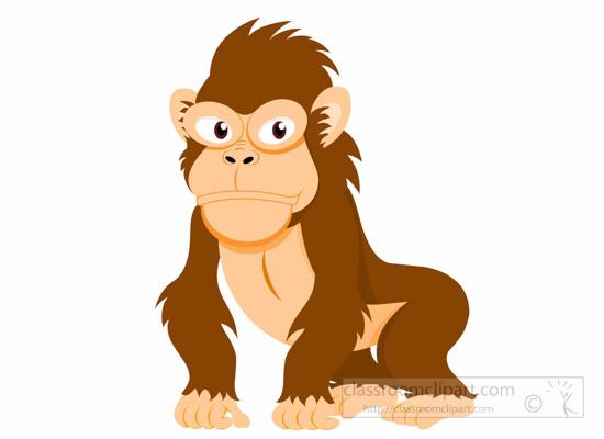 vector transparent stock Ape clipart monket. Monkey herbivorous gorilla herbivorousgorillaapeclipartjpg