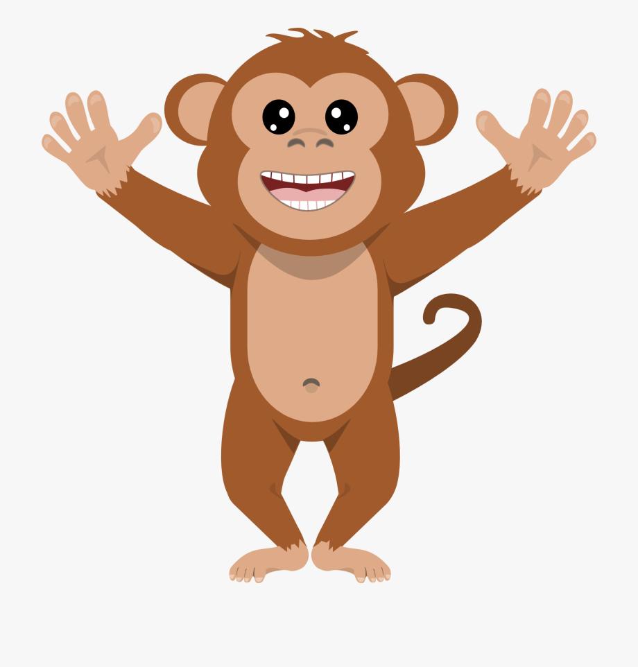 svg black and white Transparent background animal . Ape clipart monket.