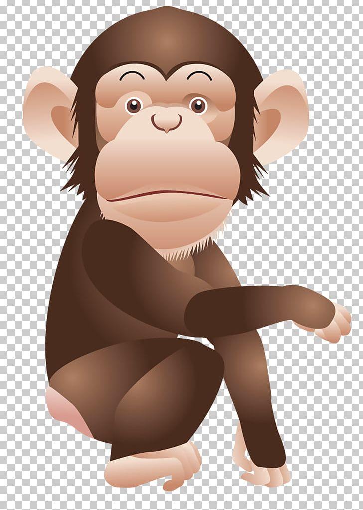 banner freeuse Ape clipart monket. Chimpanzee monkey png animals.
