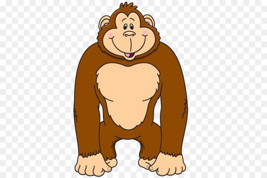 clip library download Monkey cartoon bear transparent. Ape clipart monket.