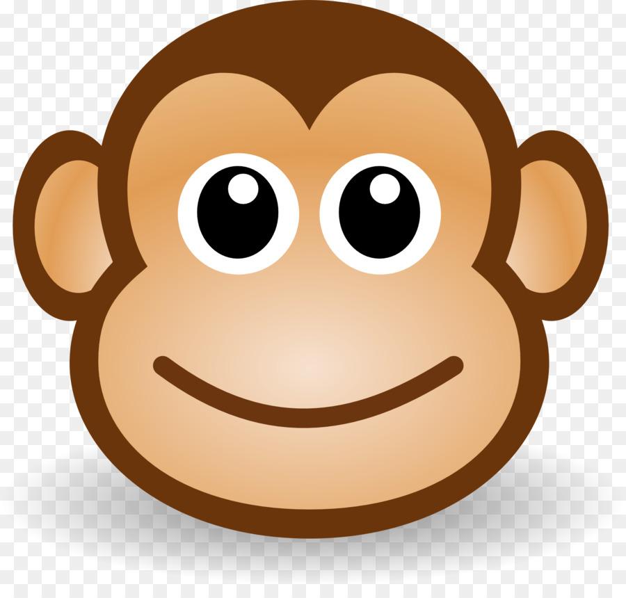 image black and white library Ape clipart monket. Monkey cartoon clip art.