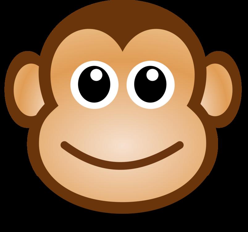 svg Cartoon drawing monkey download. Ape clipart monket