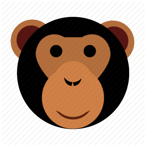 graphic freeuse download Supericon animals by james. Ape clipart monkey