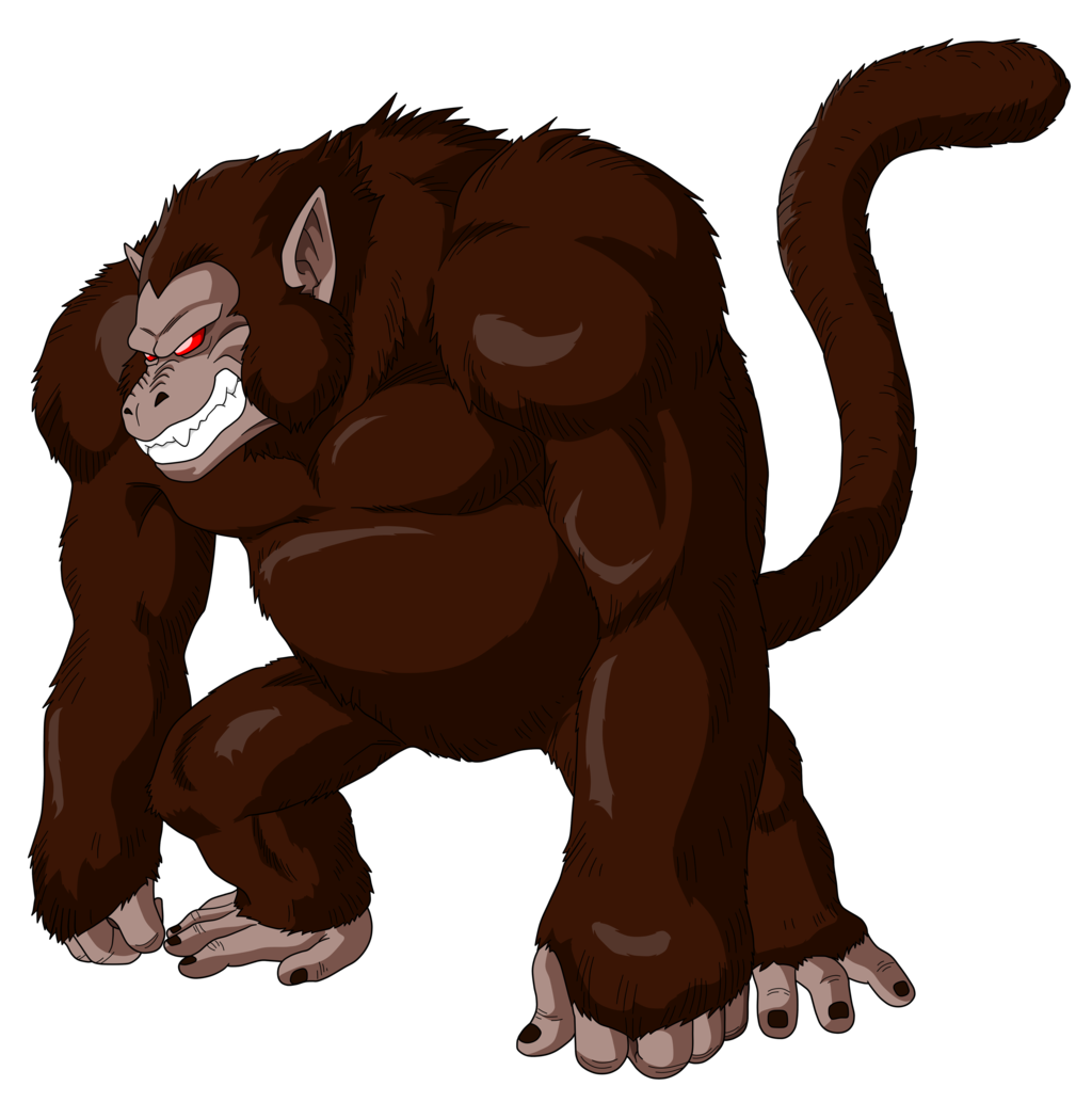 picture royalty free Image oozaru goku png. Ape clipart monkey tail