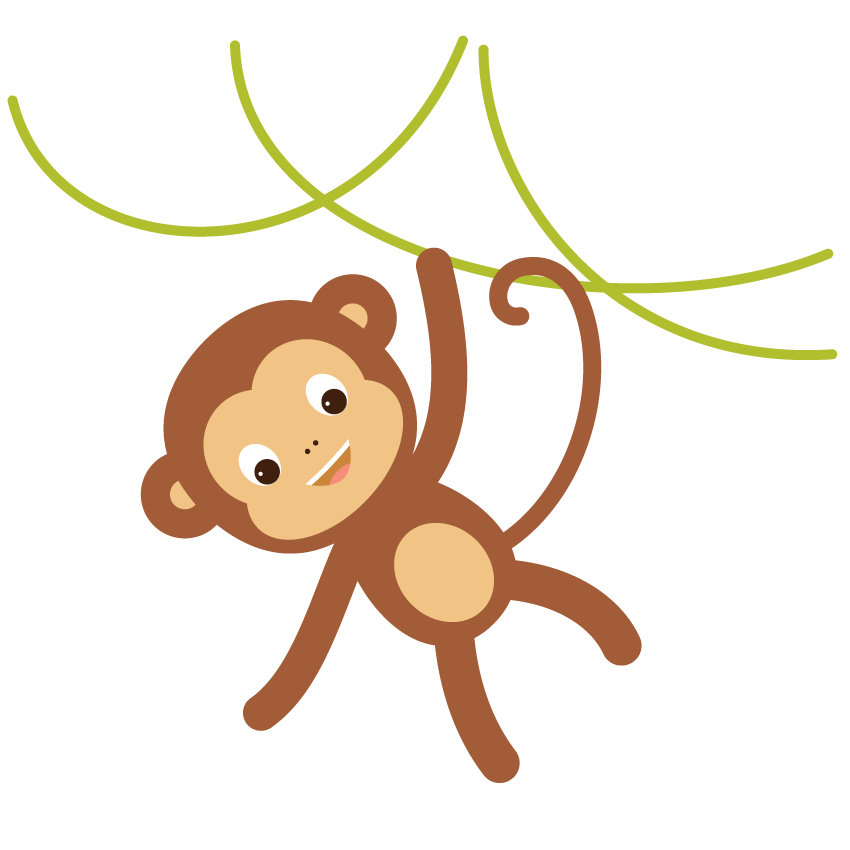 svg freeuse library How to create a. Ape clipart monkey tail