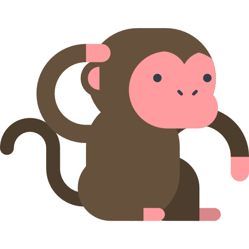 clip free download Icon page. Ape clipart monkey tail