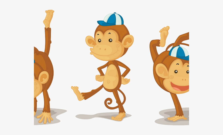 clip freeuse download Cartoon monkeys playing . Ape clipart monkey tail