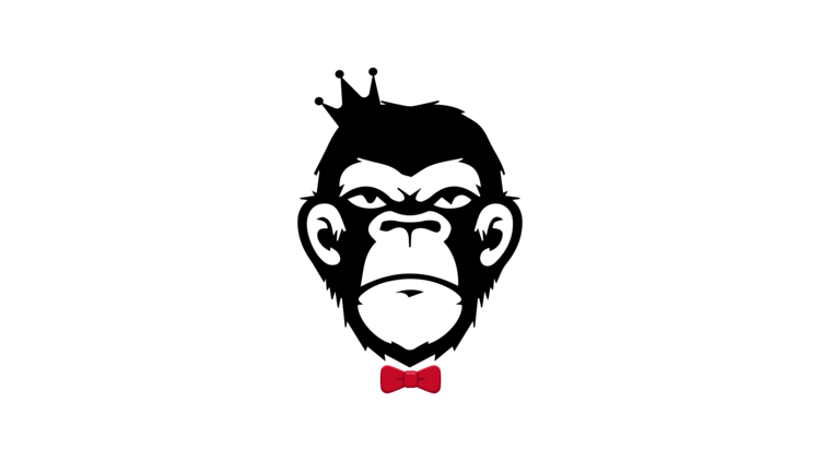 banner freeuse Ape clipart monley. Monkey business vape co