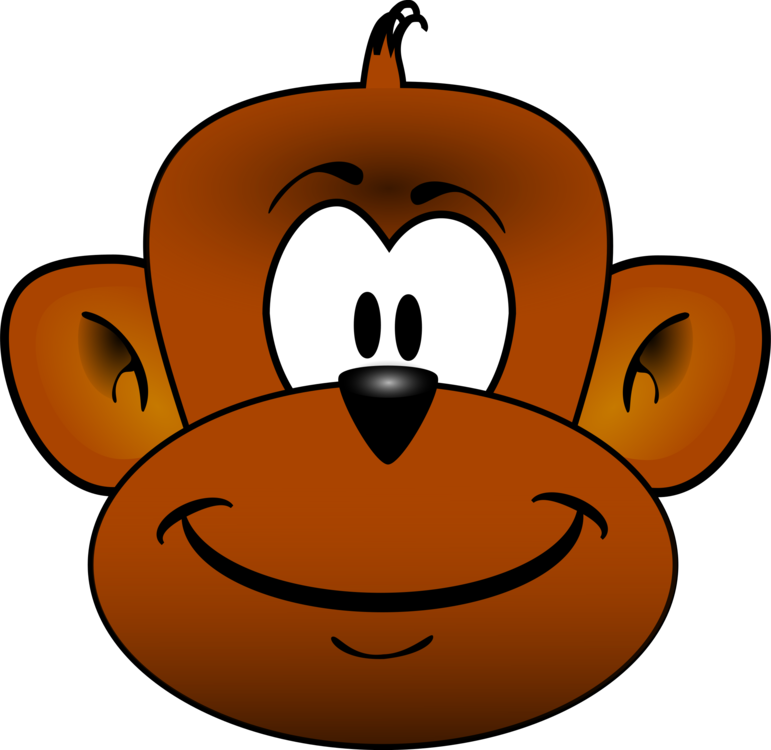 banner free library Chimpanzee monkey cartoon primate. Ape clipart monley