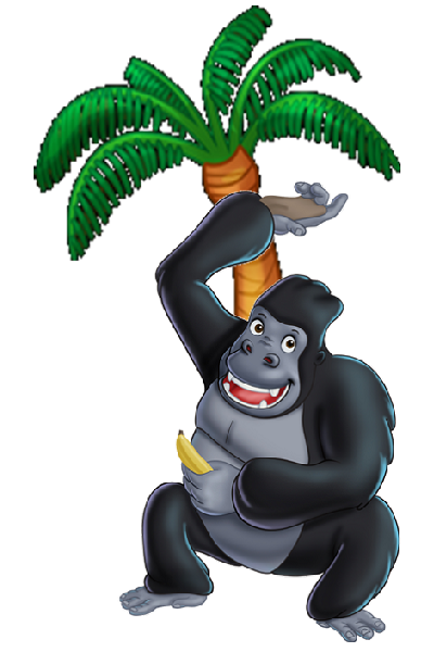 image freeuse download Brown gorilla pictures monkey. Ape clipart monley