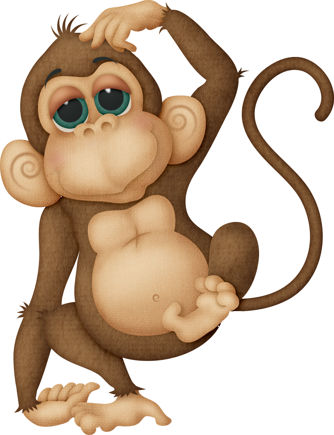 transparent Ape clipart mother monkey. Png images free download