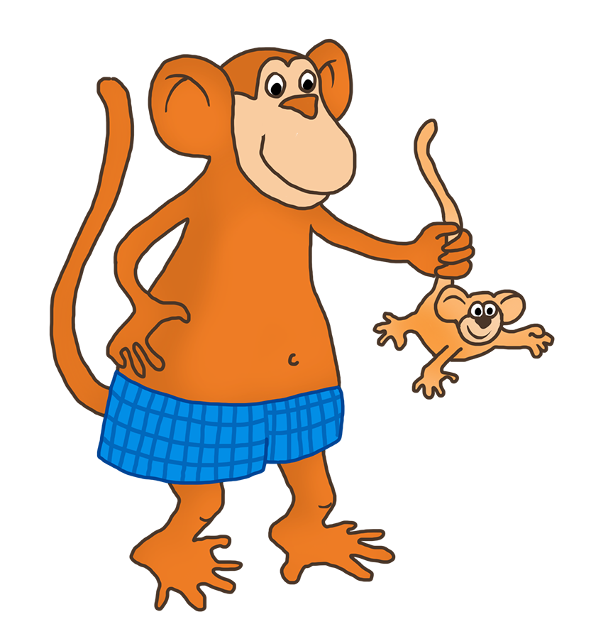 svg library library Ape clipart mother monkey. Funny drawings clip art