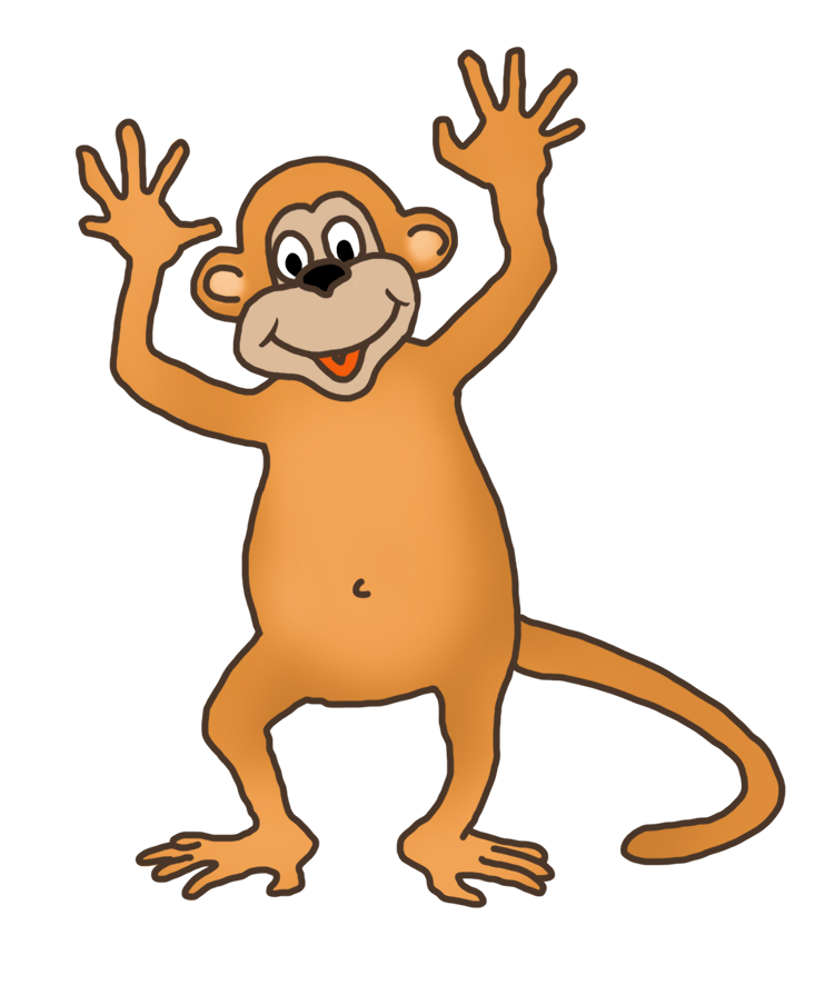 image freeuse library Funny drawings clip art. Ape clipart mother monkey