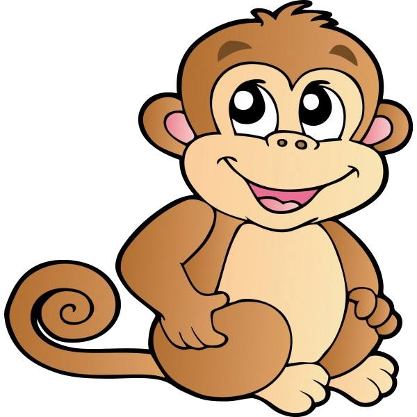 jpg library download Funny baby monkeys cartoon. Ape clipart mother monkey