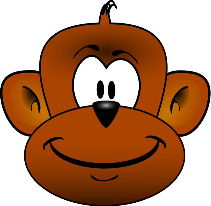 vector download Ape clipart mother monkey. Free face
