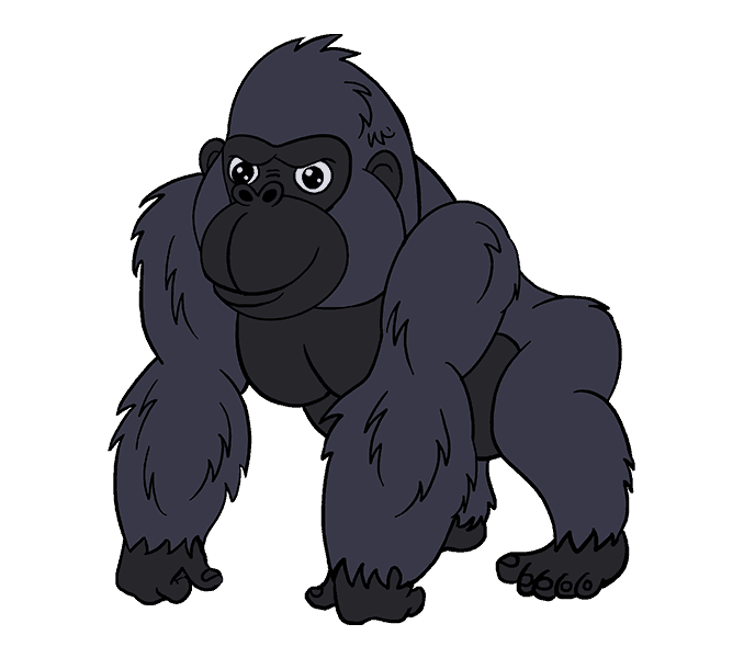 svg freeuse download Drawing terk cartoon vector. Ape clipart mountain gorilla