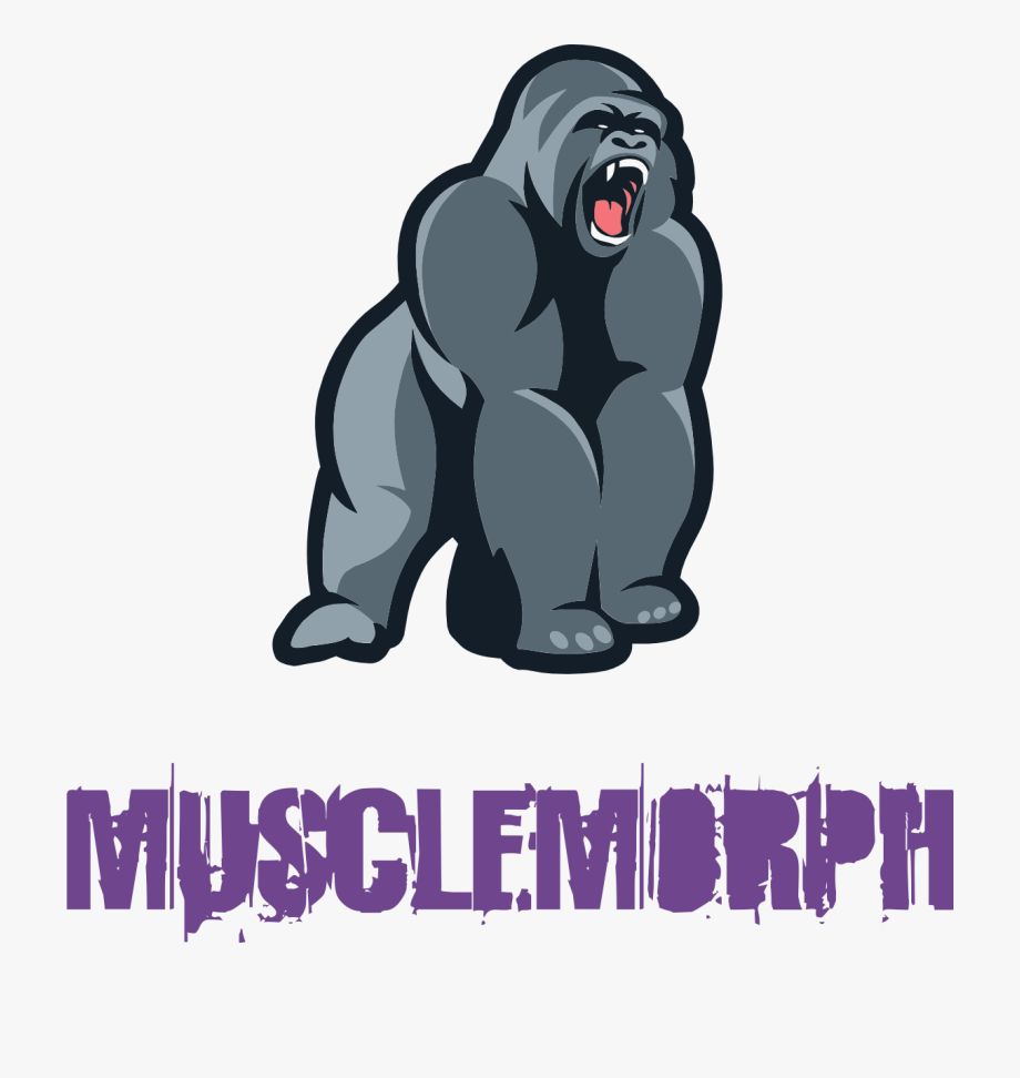clipart black and white stock Bodybuilding free . Ape clipart mountain gorilla