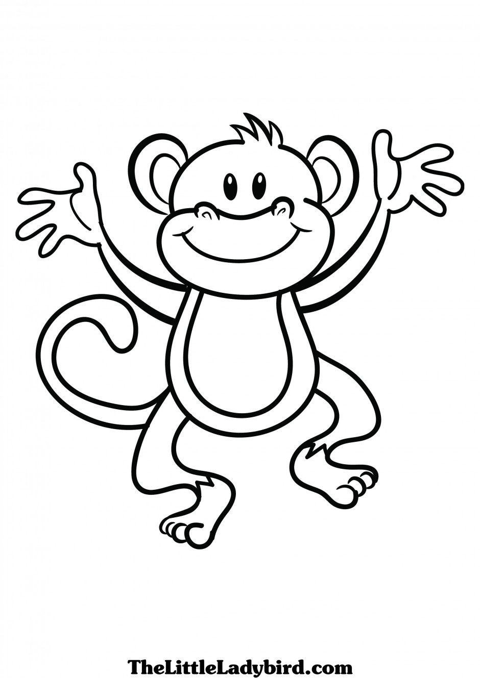 image Monkey black and white. Ape clipart outline