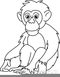 banner freeuse library Ape clipart outline. Black and white free