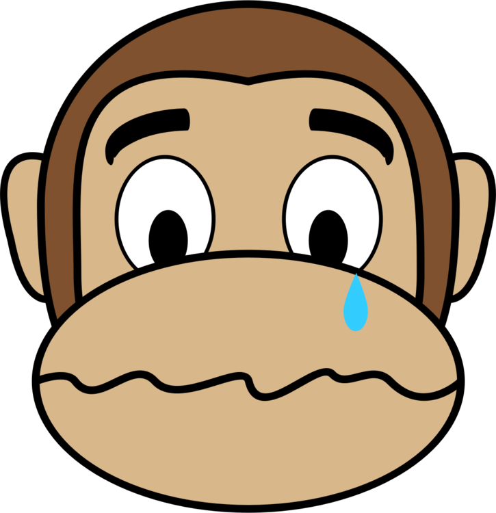 image royalty free Emoji monkey smile happiness. Ape clipart sad