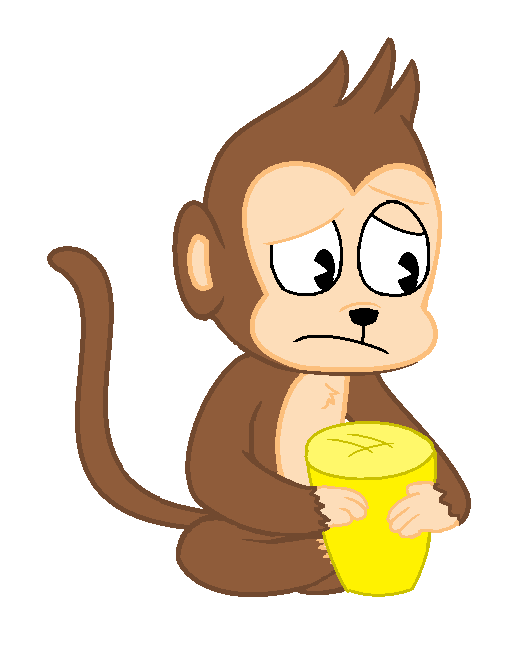 vector royalty free stock Ape clipart sad. Monkey pictures cartoons desktop.