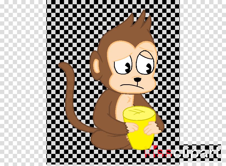 jpg transparent download Ape clipart sad. Monkey clip art transparent