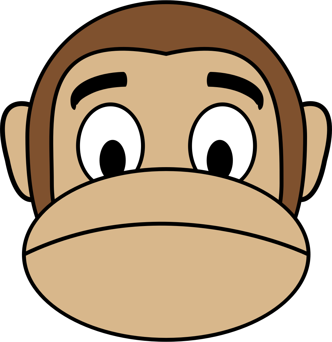 clipart stock Free monkey cliparts download. Ape clipart sad.