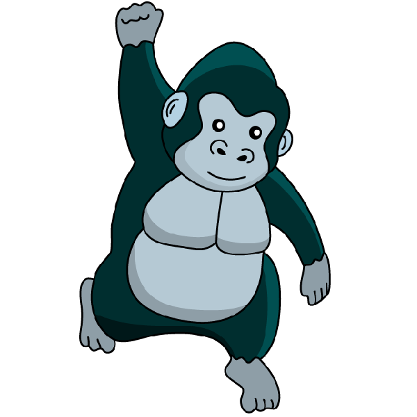 svg royalty free Ape clipart silverback gorilla. At getdrawings com free.