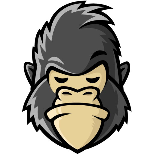 png black and white stock Ape clipart strong. Cropped favicon png gorillanetting