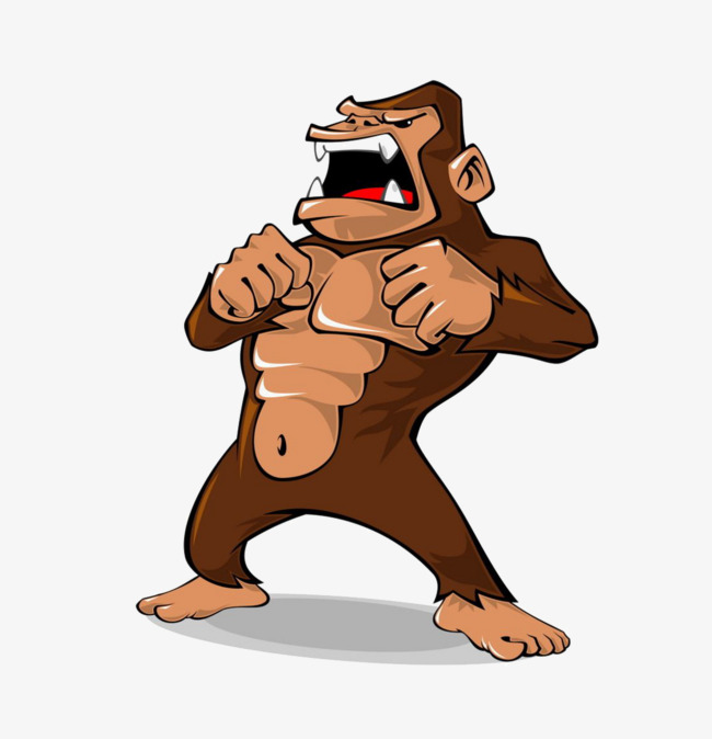 banner library stock Ape clipart strong. Transparent free for download