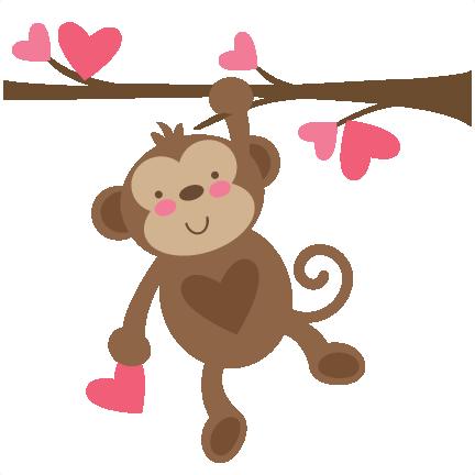 graphic transparent Ape clipart svg. Valentine monkey file for