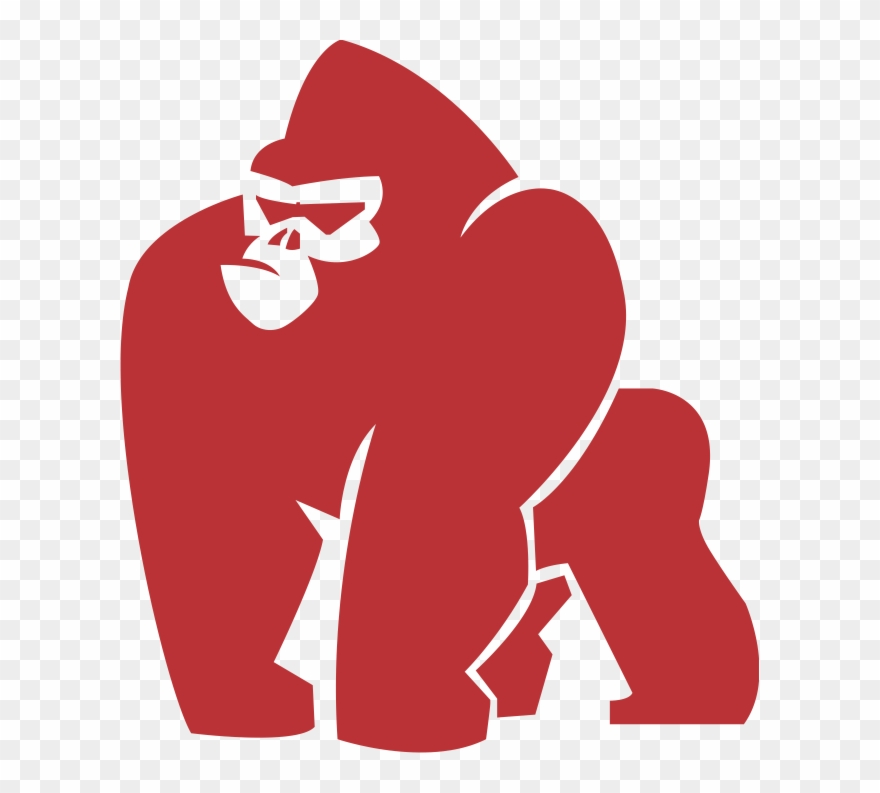 graphic black and white Royalty free library gorilla. Ape clipart svg