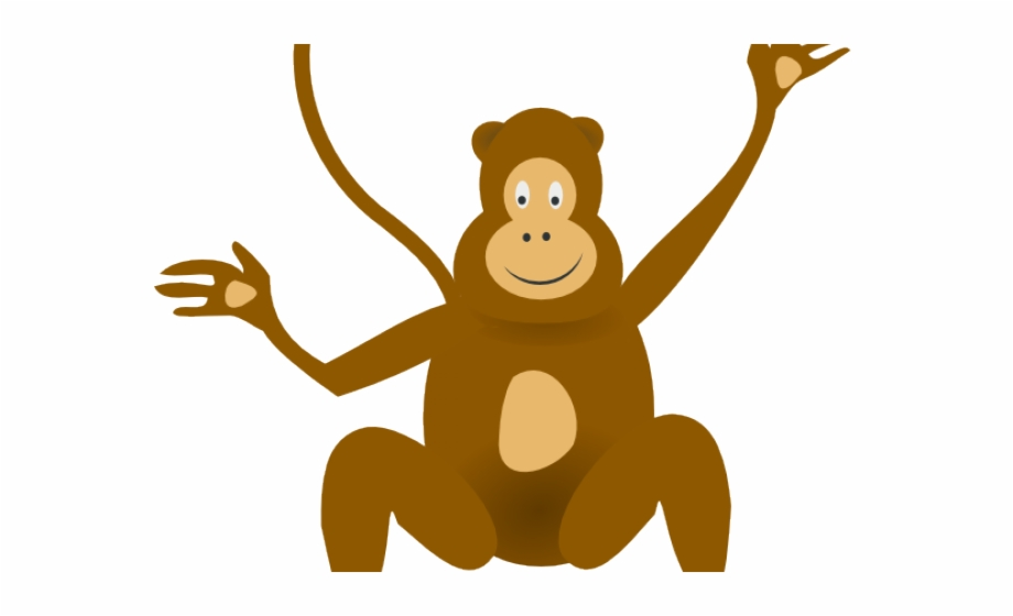 png freeuse stock Ape clipart transparent background. Wild animal monkey graphic.