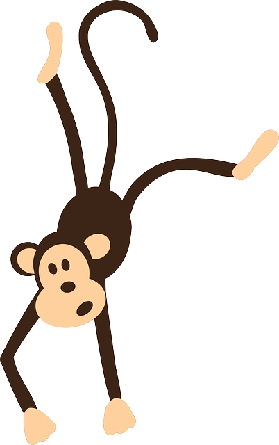 image black and white library Imagem gratis no pixabay. Ape clipart wild monkey