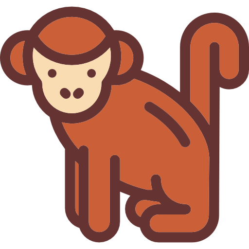 clipart library stock Zoo animals mammal life. Ape clipart wild monkey