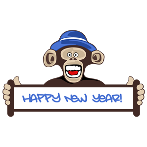 freeuse download Happy new cliparts of. Ape clipart year monkey