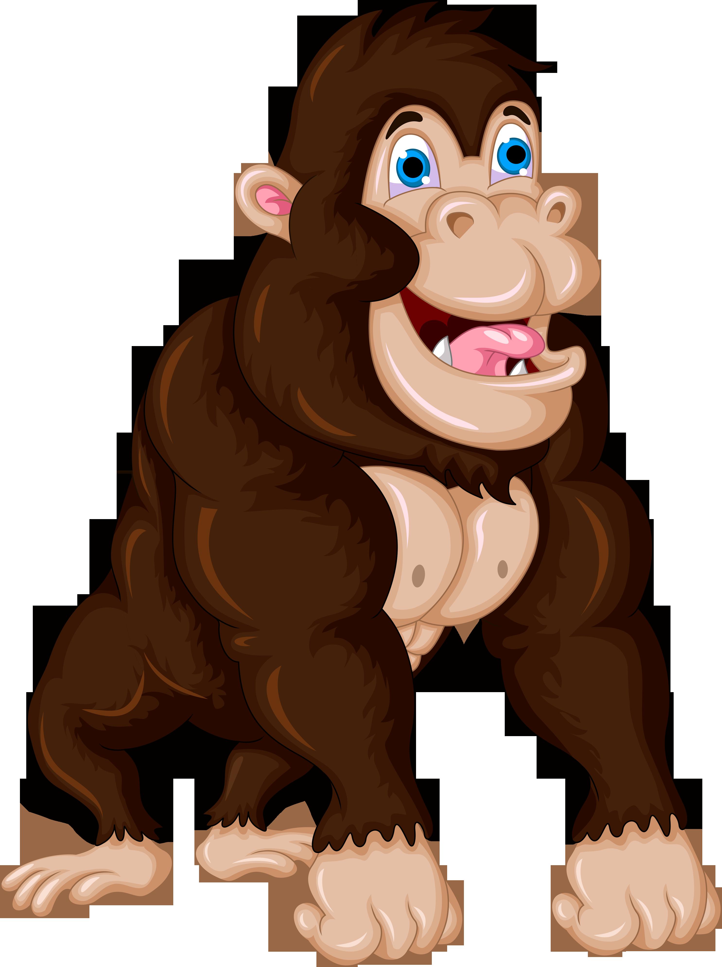 clip library download Ape clipart zoo gorilla. Cartoon chimpanzee clip art.