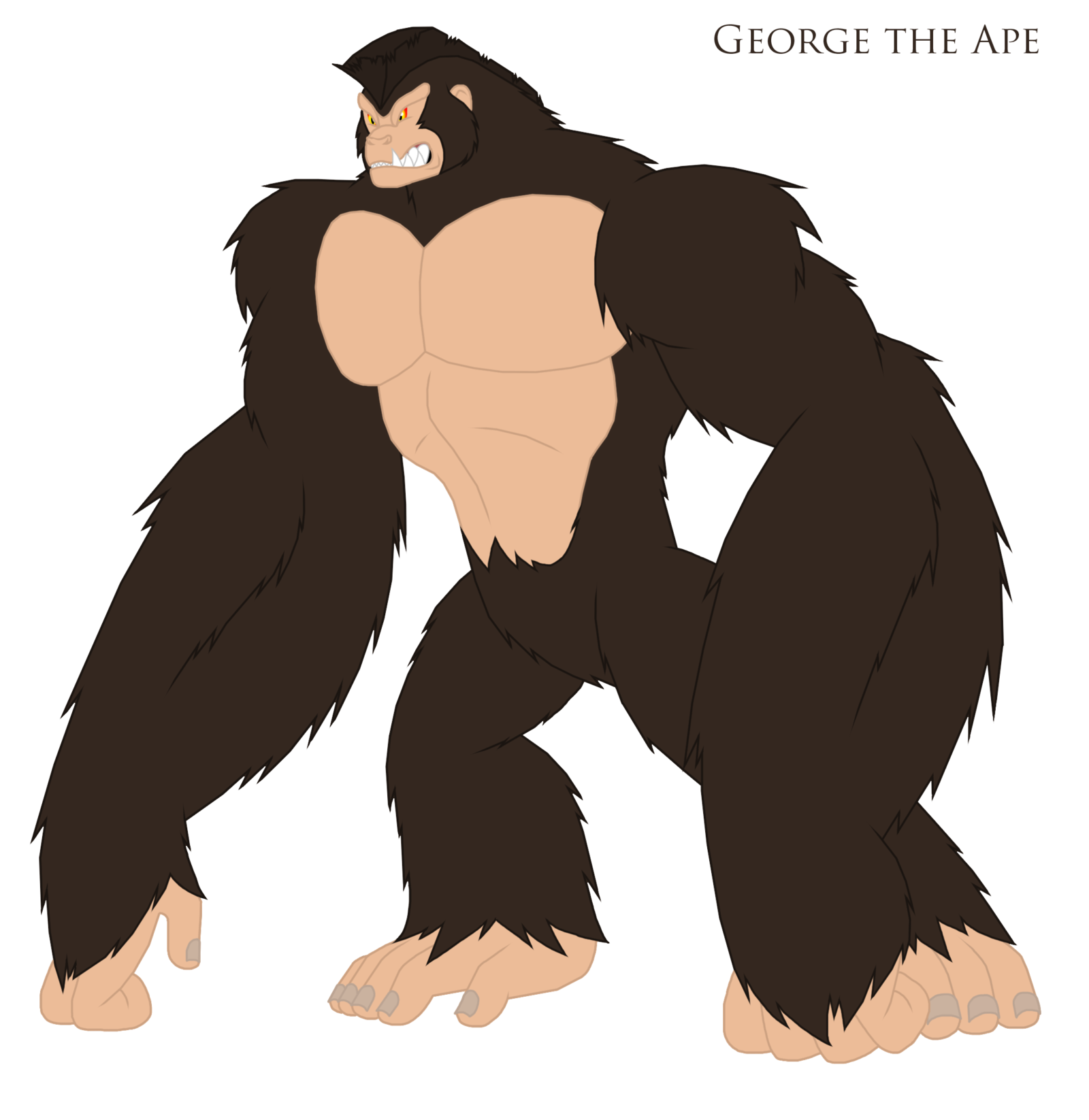 graphic free stock Ape clipart zoo gorilla. An idea for equestria