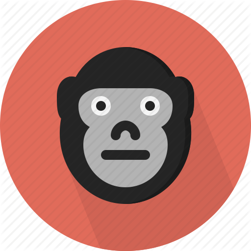 svg free Animal flat by icons. Ape clipart zoo gorilla