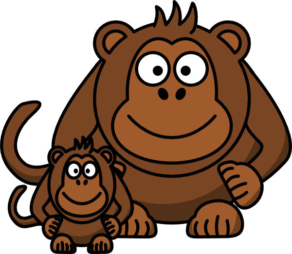 clipart freeuse stock Ape Baby Clip Art at Clker