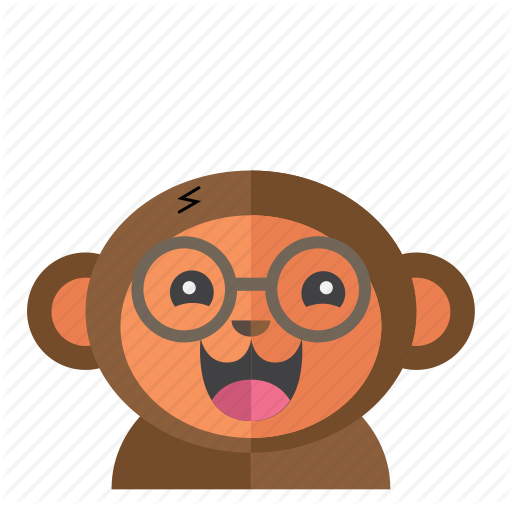 vector free stock Avatar Cute Monkey