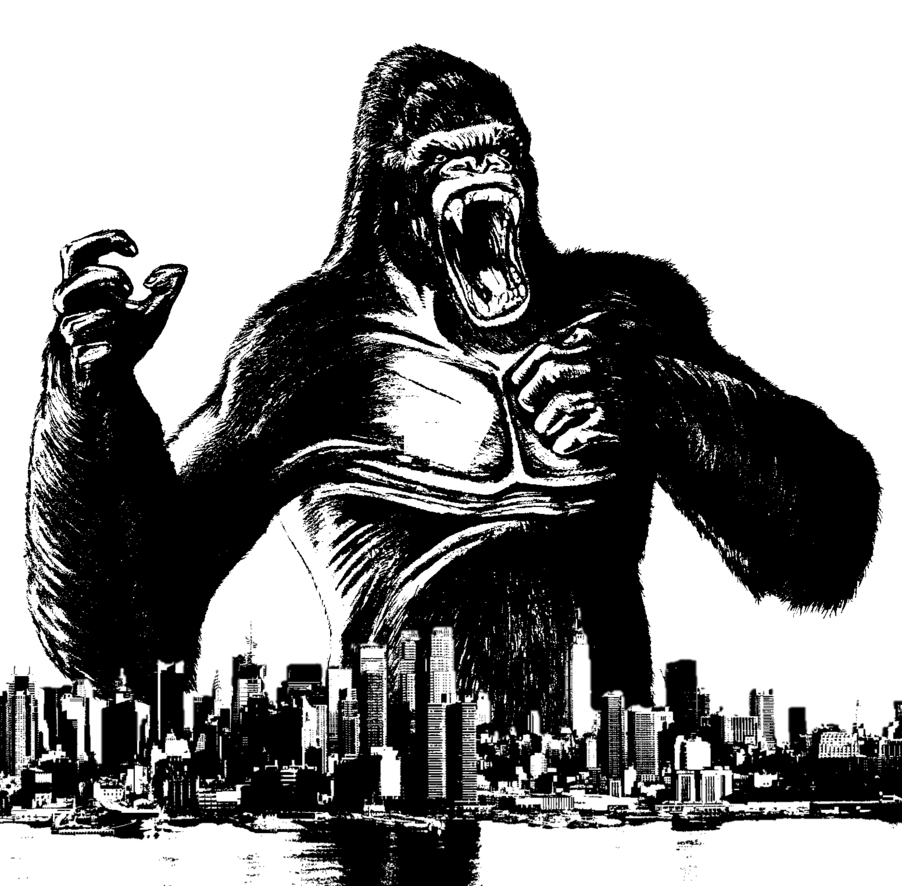 vector freeuse download King Kong Strikes New York City by BradSnoopy