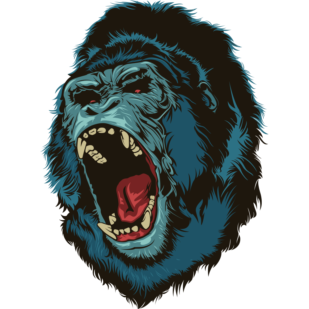 royalty free Western gorilla Ape Illustration