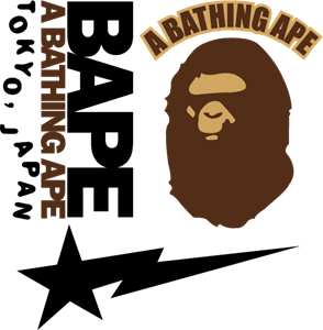 svg transparent stock A Bathing Ape Logo Vector